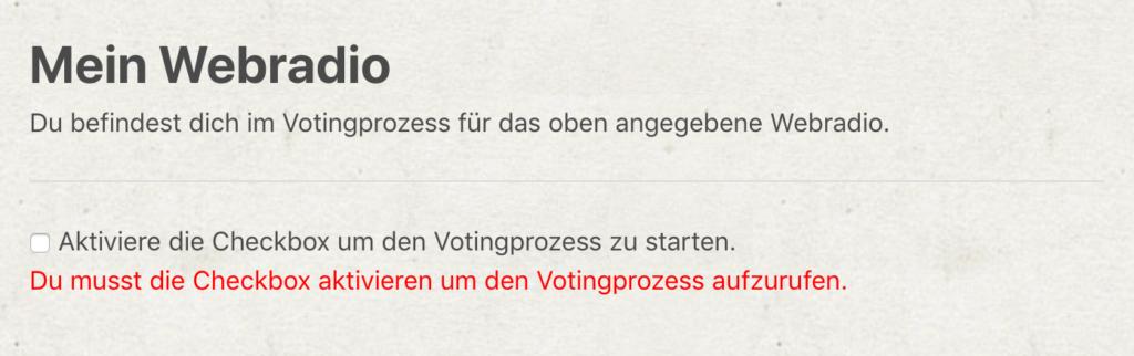 webradiotop100.de - Neuer Votingprozess