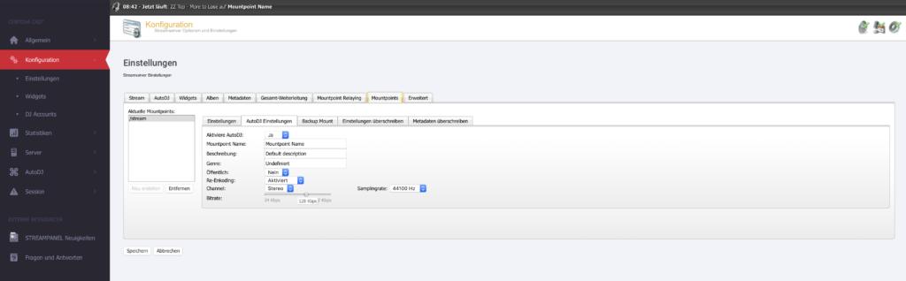 Mein Streamserver zeigt eine falsche Bitrate wie bestellt / konfiguriert