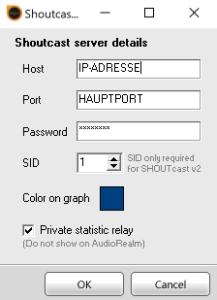 SAM Broadcaster / Statistik Relay